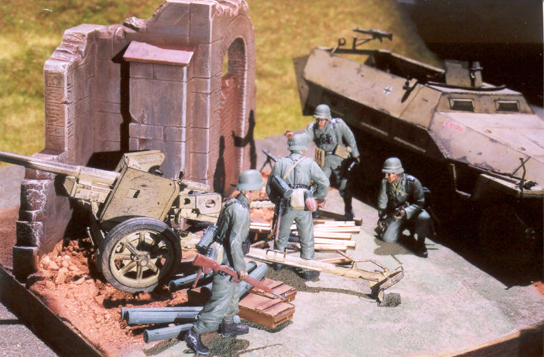 "German 50 Mm Anti Tank Gun: (Pics) Diorama ""German Anti-Tank Gun"""