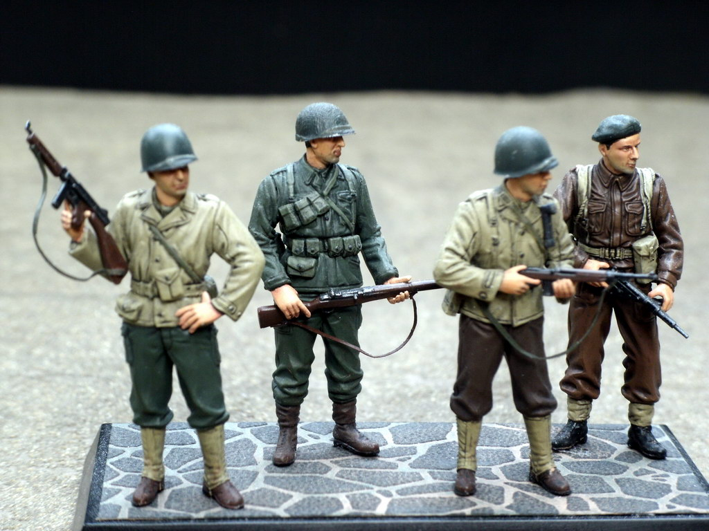 &;famous generals of wwii&; using tamiya's old figure set - by &;pj